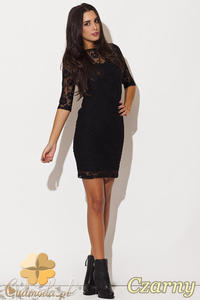 a3075e55caf23c CM0481 KATRUS K109 Koronkowa sukienka mini - czarna -20% - 2832072551