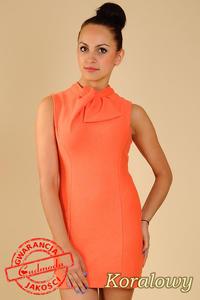 6059d6d51d CM0068 Mini sukienka suwak z dzianiny - koralowa Cudmoda. Sukienki