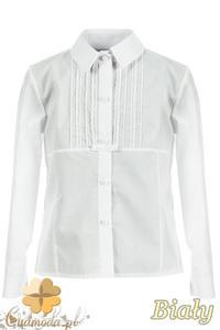 MA072 Dziecięca bluzka z długim rękawem i koronkowymi wstawkami - 2832073136