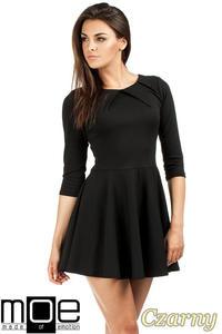 ba3d59edd7 CM0990 Elegancka rozkloszowana sukienka mini - czarna - 2832073294
