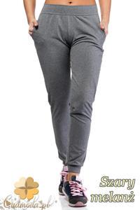 CM1016 Elastyczne spodnie dresowe Paulo Connerti - szary melanż - 2832073340