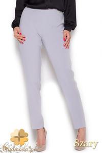 CM1044 Klasyczne spodnie damskie rurki - szare - 2832073458