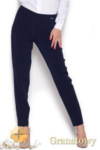 CM1044 Klasyczne spodnie damskie rurki - granatowe - 2832073460