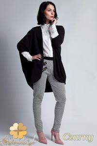 CM1142 Damski sweter kimono oversize - czarny - 2832073693