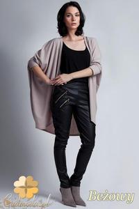 CM1142 Damski sweter kimono oversize - beżowy - 2832073694