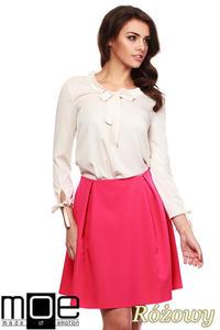 CM1151 Klasyczna kobieca spódniczka z podszewką - różowa - 2832073944