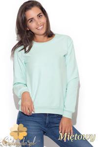 CM1226 Elegancka klasyczna bluzka damska - miętowa - 2832074026
