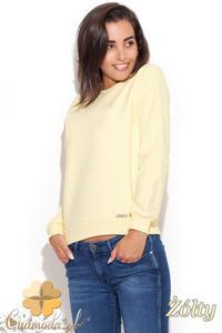 CM1226 Elegancka klasyczna bluzka damska - żółta - 2832074027