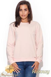 CM1226 Elegancka klasyczna bluzka damska - różowa - 2832074028
