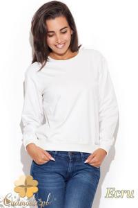 CM1226 Elegancka klasyczna bluzka damska - ecru - 2832074029