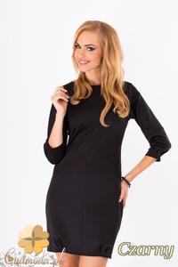 CM1289 Klasyczna sukienka damska z krytym suwakiem - czarna - 2832074314