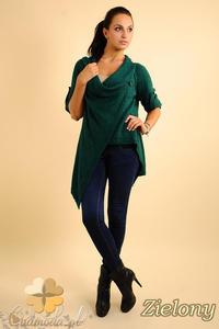 731a0ed6 Sklep: cm0134 długi sweter kardigan ponczo - popielaty