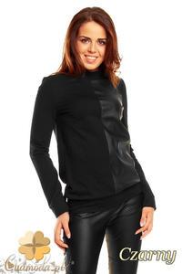 691a3a6b1 CM1371 Kobieca bluzka w dwóch kolorach - czarna - 2832074575