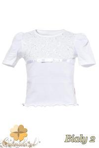 a792d0539830fe MA017 Śliczna dziecięca bluzka z bufkami - biała 2 - 2832075306