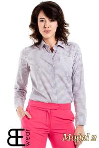 CM1631 Klasyczna zapinana koszula damska - model 2 - 2832075360