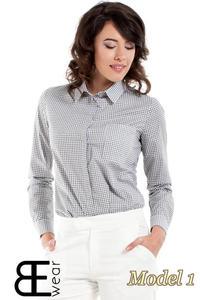 CM1631 Klasyczna zapinana koszula damska - model 1 - 2832075361