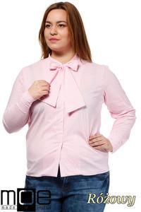 CM1642 Klasyczna koszula damska z długim rękawem - różowa - 2832075365