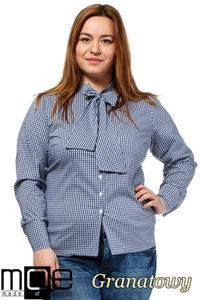 CM1642 Klasyczna koszula damska z długim rękawem - granatowa - 2832075366