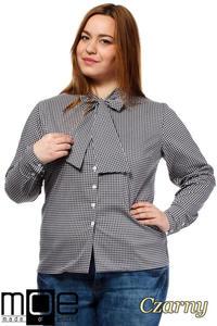 CM1642 Klasyczna koszula damska z długim rękawem - czarna - 2832075368