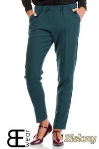CM1863 Klasyczne eleganckie spodnie na kant - zielone - 2832075855