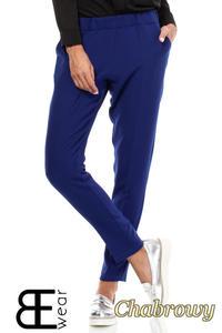 CM1863 Klasyczne eleganckie spodnie na kant - chabrowe - 2832075857