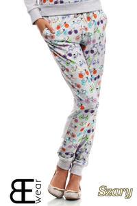 CM1869 Dresowe spodnie damskie w rowery - szare - 2832075876