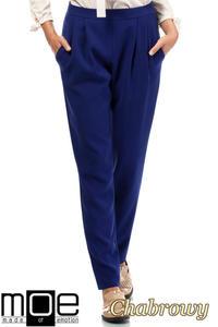 CM1875 Modne spodnie damskie chinosy - chabrowe - 2832075986