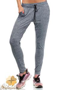 CM1936 Dresowe spodnie damskie ze sznurkiem w pasie - 2832076048