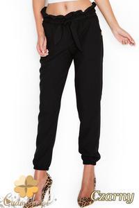 CM1948 Przewiązane spodnie dresowe rurki - czarne - 2832076090
