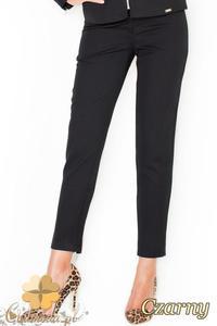 2ea0696a1e CM1949 Eleganckie garniturowe spodnie damskie - czarne - 2832076092
