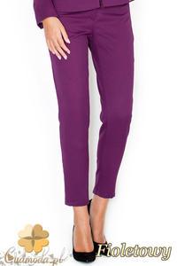 ae79a34d74 CM1949 Eleganckie garniturowe spodnie damskie - fioletowe - 2832076093