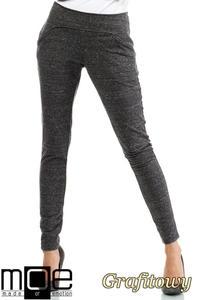 CM2046 Stylowe dresowe spodnie damskie - grafitowe - 2832076412