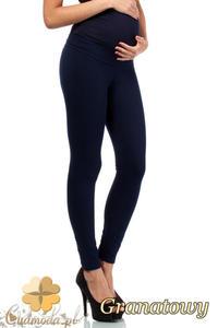 CM2235 Ciążowe spodnie legginsy z elastycznym pasem - granatowe - 2832076441