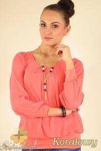 CM0175 Elegancka zwiewna szyfonowa bluzeczka - koralowa - 2832070004