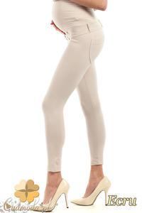CM0730 Ciążowe spodnie legginsy z elastycznym pasem - ecru - 2832076940