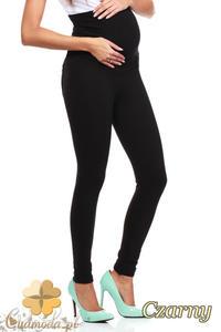 CM0730 Ciążowe spodnie legginsy z elastycznym pasem - czarne - 2832076948