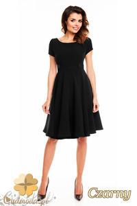 CM2404 Koktajlowa sukienka wieczorowa - czarna - 2835693893