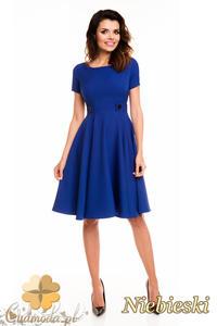 CM2404 Koktajlowa sukienka wieczorowa - niebieska - 2835693894