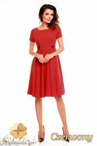 CM2404 Koktajlowa sukienka wieczorowa - czerwona - 2835693895