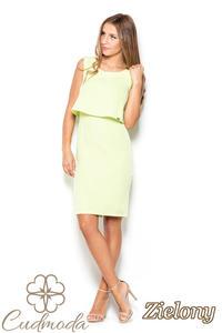 e97088af66 CM2509 Dopasowana sukienka mini bez rękawów - zielona - 2840821509