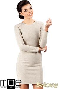 CM0326 Klasyczna sukienka mini - beżowa - 2832070123