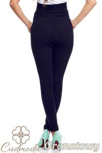CM0730 Ciążowe spodnie legginsy z elastycznym pasem - granatowe - 2843304071