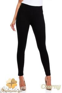 CM0034 Włoskie klasyczne getry legginsy z kieszeniami - czarne - 2832069386