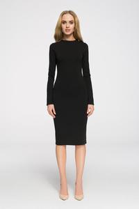 286dc0c64f CM2710 Wieczorowa sukienka z długim rękawem - czarna - 2843943317