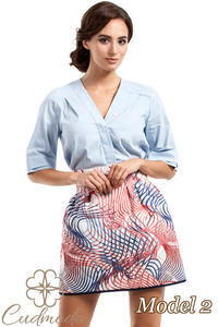 CM2726 Spódniczka tulipan w modne wzory - model 2 - 2843943368