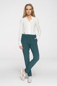 CM2692 Klasyczne proste spodnie damskie - zielone - 2847121209