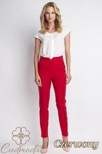 CM2776 Klasyczne spodnie biurowe - czerwone - 2847866378