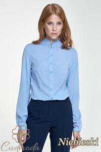 fd4f75f05ba8d0 CM2800 Koszula damska na stójce - niebieska - 2847866411