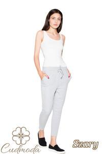CM2956 Funkcjonalne spodnie dresowe damskie - szare - 2850405474
