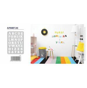"Szablon XXL ""Alphabet"" (Alfabet / Litery) nr 28 + Farba do szablonów GRATIS! - 2827420810"